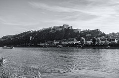 Ehrenbreitstein Fortress Koblenz (rschnaible) Tags: koblenz germany europe outdoor sightseeing landscape waterfront rhine river bw black white photography monotone fort fortress ehrenbreitstein old history historic