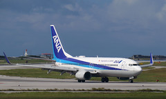 ANA (Treflyn) Tags: boeing 737800 737 738 ja66an ana all nippon airways clear runway arrival naha airport okinawa japan