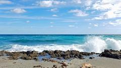 Surf's Up (Sun~Lover) Tags: ocean atlantic jupiterisland hobe sound surf rock limestone blowingrocks plume waves