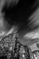 Dudley Priory_M-8842 (timbertree9) Tags: greyscale blackandwhite monochrome mono colour dudley dudleycouncil westmidlands priory sky skyatnight architecture historic ruins eng unitedkingdom central hdr dark darksky stars clouds lighting shadows stone