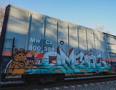 OMENS (◀︎Electric Funeral▶︎) Tags: omaha midwest councilbluffs nebraska lincoln fremont desmoines kansascity kansas missouri iowa graff graffiti paint aerosol art freight train traincar freighttraingraffiti railway railroad railcar benching benched freighttrain rollingstock fr8train fr8heaven fujifilmxt2 omens msk villains digital photography