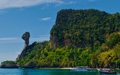 Koh Kai (Chicken island), Thailand (Bokeh & Travel) Tags: kohkai chicken island chickenisland landscape nature naturalbeauty sea seascape thailand asia siam boats vacation trip