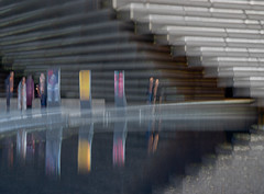V&A impressions (Marion McM) Tags: blur motionblur intentionalcameramovement people figures building architecture water reflections concrete design va victoriaandalbertmuseumdundee museumofdesign streetphotography angus scotland 2019 canoneos6dmk11