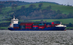 Scotland Greenock the containership Encounter arriving in port 23 November 2018 by Anne MacKay (Anne MacKay images of interest & wonder) Tags: scotland greenock containership encounter sea coast cargo ship 23 november 2018 picture by anne mackay
