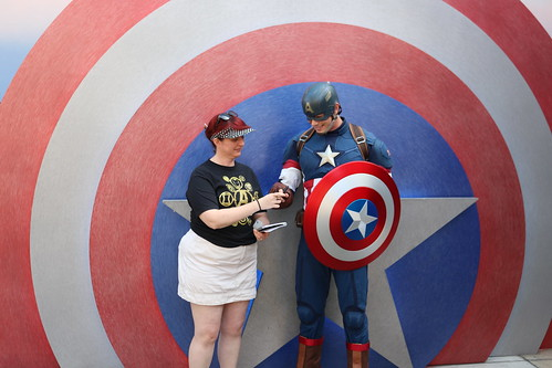"Tracey meeting Captain America at Disney California Adventure • <a style=""font-size:0.8em;"" href=""http://www.flickr.com/photos/28558260@N04/45998184142/"" target=""_blank"">View on Flickr</a>"