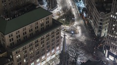 Park Row Tilt TL 020219 UHD with music (Michael.Lee.Pics.NYC) Tags: newyork parkrow cityhall aerial night timelapse tilt brooklynbridge hotelview milleniumhilton millenniumhilton municipalbuilding thurgoodmarshallcourthouse traffic stpaulschapel broadway sony a7rm2 fe24105mmf4g 25parkrow construction lowermanhattan