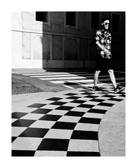 Chequered (TS446Photo) Tags: street blackandwhite black white blackwhite nikon photography nikkor noiretblanc lisbon check pattern