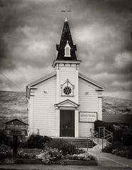 St Anthony's Church Pescadero  B&W (CDay DaytimeStudios w /1 Million views) Tags: bluesky california church cloudy coastline highway1 pacificcoast pacificcoasthighway pescaderoca