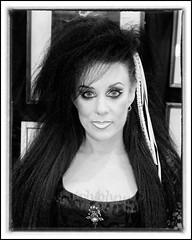IMG_0318-7 Re-Edit (Scotchjohnnie) Tags: whitbygothweekendoctober2018 whitbygothweekend wgw wgw2018 whitby yorkshire northyorkshire goth gothic costume portrait people female closeup blackwhite mono monochrome canon canoneos canon7dmkii canonef24105mmf4lisusm scotchjohnnie