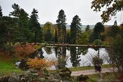 Grotto Pond (Bri_J) Tags: chatsworthhousegardens bakewell derbyshire uk chatsworthhouse gardens chatsworth statelyhome autumn fall nikon d7500 grottopond trees reflection pond