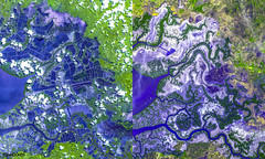 The eastern end of the Gulf of Fonseca, in Honduras. Original from NASA. Digitally enhanced by rawpixel.