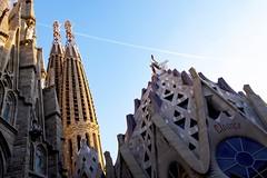 Passion Facade (Douguerreotype) Tags: cathedral church sagradafamilia barcelona tower buildings city urban gaudi spain catalunya architecture