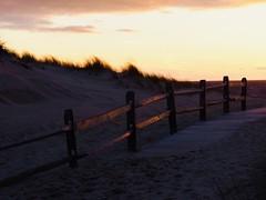 Fencing by the sea (ZoKë) Tags: catchlight boardwalk evening beachpath beach truro cornhill bay sea water fence