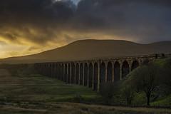Ribblehead_13 (julesh1966@googlemail.com) Tags: ribbleheadviaduct northyorkshire yorkshiredales sunrise clouds railway landscape grassland ingleborough colour autumn ariel drone