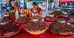 2018 - Mexico - Oaxaca - Chapulines (Ted's photos - Returns late Feb) Tags: 2018 cropped mexico nikon nikond750 nikonfx oaxaca tedmcgrath tedsphotos tedsphotosmexico vignetting chapulines oaxacachapulines chapulinesoaxaca grasshoppers oaxacagrasshoppers grasshoppersoaxaca food streetscene street red redrule