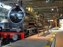Number 3737 steam locomotive of the SS (Staats Spoorwegen) (Beyond the grave) Tags: trains railroad railroadmuseum utrecht netherlands steamlocomotive ss staatsspoorwegen locomotive