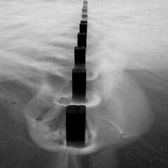 LE @ the beach (PeskyMesky) Tags: aberdeen aberdeenbeach longexposure scotland water sea ocean groyne monochrome blackandwhite canon canon5d eos