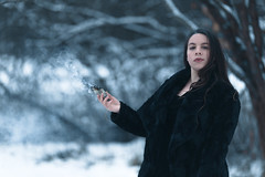 Queen of the North (Sarah Sonny) Tags: portrait female woman witch wiccan sage spiritual smoke outdoors woods