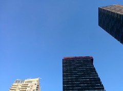 Three new towers, northeast corner of Yonge and Eglinton #toronto #yongeandeglinton #skyline #towers #blue #sky (randyfmcdonald) Tags: blue sky towers skyline toronto yongeandeglinton