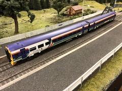 Class 158 (Callum's Buses and Stuff) Tags: class158 bachmann oo modlerailway elmrc newcastleton station waverlyroute borderrailway train waverleyroute waverley borders