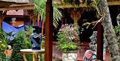 "INDONESIEN, Bali, Palast Puri Saren in Ubud (Innenhof),  17852/11055 (roba66) Tags: bali urlaub reisen travel explore voyages rundreise visit tourism roba66 asien asia indonesien indonesia insel island île insulaire isla bauwerk architektur architecture arquitetura building bau façade platz places historie history historic historical geschichte skulptur sculpture relief ""götter geisterunddämonen"" religion urban palast temple tempel"