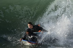 fullsizeoutput_509c (supercrans100) Tags: seal beach big waves back wash surfing body bodyboarding skim boarding drop knee
