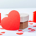 Big red heart-Valentine with gift and candles