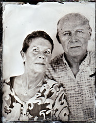 Paul and Lisa (fitzhughfella) Tags: wetplate tintype tinplate collodion ether silvernitrate largeformat 5x4 graflexspeedgraphic kodakaeroektar