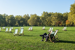 It was that kind of day... (@AmirsCamera) Tags: london greenpark city park green chairs person human people man light weather uk colour color grass nice sunny fujifilm x100s october 2018