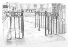 Pedestrian gate, Tanner Row, York