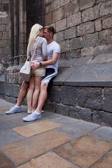 True (Miles Cave) Tags: barcelona street couple man woman embrace love cute