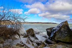 Rock and Ice (dunescape) Tags: lakeontario ashbridgesbaypark rocks ice toronto beaches