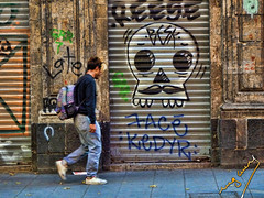 Deadly walk (ingcuevas) Tags: dead deadly skull street people man streetphoto vibrant bright colorful graffiti outdoor walk walking amazing cool urban destino