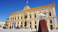 Auberge de Castille. Castille place. St Catherine of Italy (akovt) Tags: sea malta mediterranean valleta palace building
