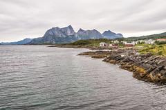 Some houses (BlossomField) Tags: mountain sea village kjerringøy nordland norwegen nor