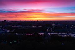 Rotterdam Sunrise (shokkas) Tags: rotterdam sunrise color colors serenity morning city skyline urban sky sun
