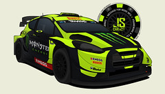 Valentino Rossi WRC+ Vector Drawing (JSCarArt_) Tags: monza rally show 2018 valentino rossi wrc plus ford fiesta msport m sport vector drawing graphic design jscarart