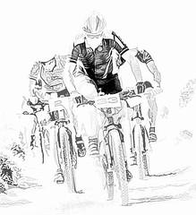 5472 Leader of the Pack (foxxyg2) Tags: cycles cycling racing cycleracing bikes mountainbikes mono monochrome bw blackwhite niksoftware dxo silverefex topaz topazsoftware topazstudio topazsimplify naxos cyclades greece greekislands islandhopping islandlife