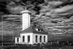 Point Wilson Lighthouse (D E Pabst Photography) Tags: lighthouse porttownsend washington monochrome pugetsound fortwordenstatepark jeffersoncounty blackandwhite maritime nationalregisterofhistoricplaces pointwilson