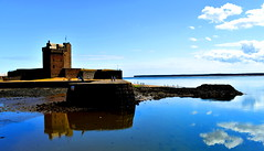 Castle Reflection (gcobb84) Tags: ancient buildng castle reflections water clouds blue