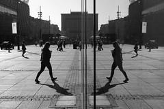 Katowice 2018 (Tu i tam fotografia) Tags: blackandwhite noiretblanc enblancoynegro inbiancoenero bw monochrome czerń biel czerńibiel noir czarnobiałe odbicie reflection mirror lustro szyba glass double dual podwójnie dziewczyna kobieta girl woman man człowiek ludzie people street ulica streetphoto fotografiauliczna streetphotography miasto city town katowice polska poland architektura lines cień cienie shadow shadows sylwetka postać silhouette linie architecture urbanarchitecture urban outdoor