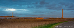 The final rays New Years Day 2019 (keithhull) Tags: humberbridge riverhumber bridge southbank reeds sunset 2019