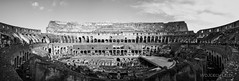 Colosseum, Rome (life of nomad) Tags: rome roma monochrome bw black and white no colours ancient italia italy europe europa european heritage legacy romans roman coloseo world clouds old monument famous recognizable landmark landmarks well known amphitheatre palatin heavy highest enormous structure wonder building jawdropping rock stones stone cruelty forum romanum capitol capital magnificent history historical flavius wojciech lelek wojciechlelek