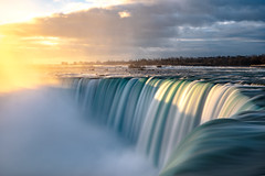 Sun Around the Bend (DFiveRed) Tags: niagara falls canada ontario new york ny waterfall sunrise sun shadow light long exposure nd filter mist fog water river rapids clouds sony a7iii canon 2470 28