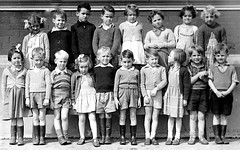 Class photo (theirhistory) Tags: boy child kid girl class form group jumper dress shorts shoes wellies wellingtons