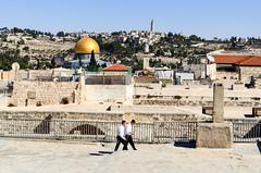 On the rooftops of Jerusalem (jbdodane) Tags: israel jerusalem jewishquarter middleeast oldcity orthodox rooftop templemount