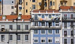 'Lisboa' (Canadapt) Tags: buildings balconies people street apartments flats lisbon portugal canadapt laundry