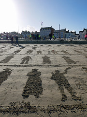 pages of the sea (auroradawn61) Tags: pagesofthesea weymouth dorset uk england november 2018 lumixgx80 remembranceday portrait beach sandportrait ww1centenary