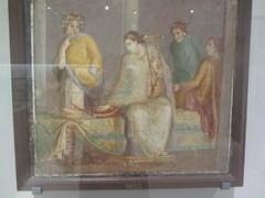 Roman Frescos,  Musicians, Pompey,  CaixaForum, Madrid, June 2018 (d.kevan) Tags: exhibitions caixaforum ancientinstruments displaycabinets june2018 madrid spain exhibits frescos roman musicians pompey paintings