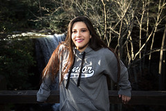 3Q0A9874 (agentsmj) Tags: girl teen teenager woman brunette senior portrait ohiopyle pennsylvania outdoors cold weather november 2018 cute funny state park